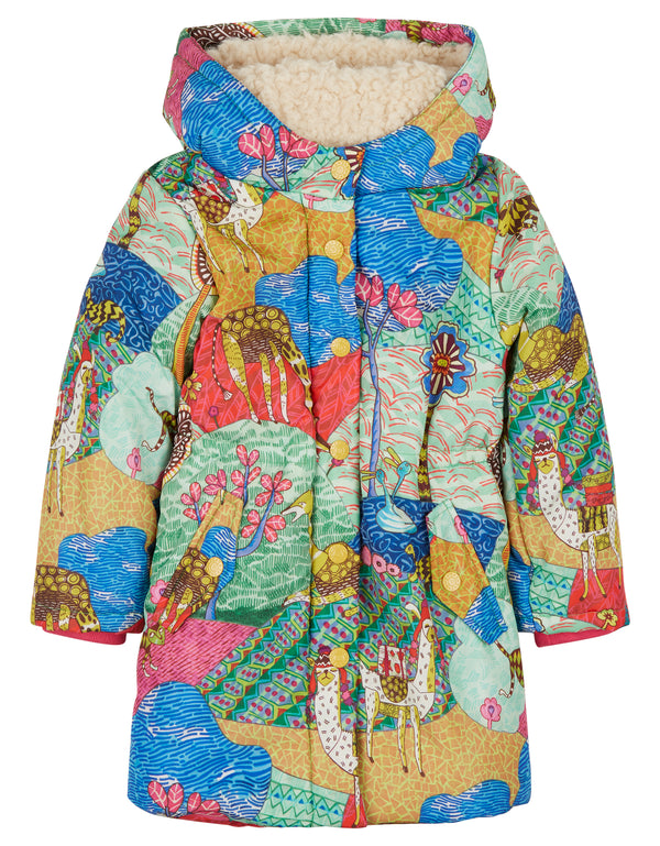 AW18 Oilily Girls Cucala 61 Atlas Mountain Coat 12 Months - 12 Years