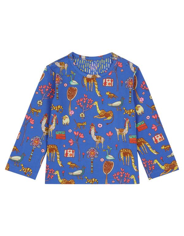 AW18 Oilily Girls Tip T-Shirt 56 Atlas Mountain Blue