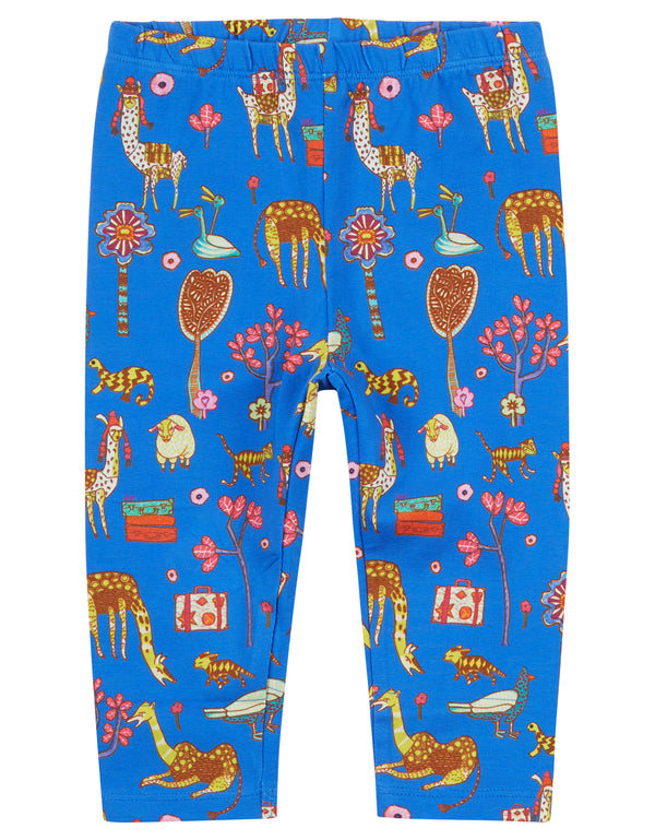 AW18 Oilily Girls Tiska Leggings 56 Atlas Mountain Blue