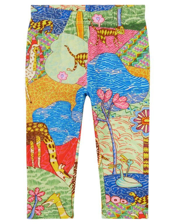 AW18 Oilily Girls Tiska Leggings 61 Atlas Mountain