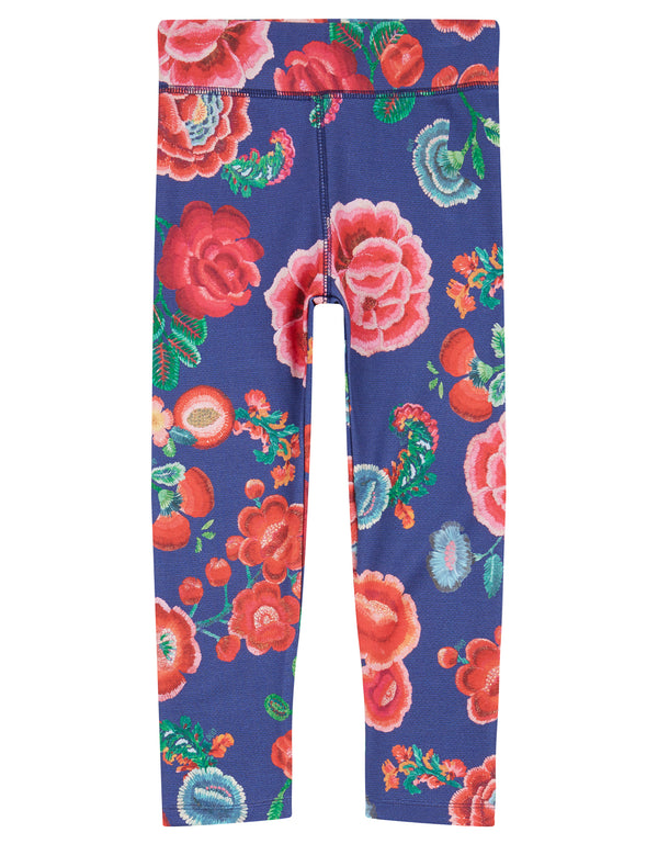 AW18 Oilily Girls Toga Leggings 59 Painted Embroidery Flower