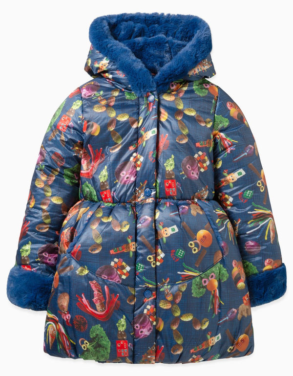 AW19 Oilily Girls Corazon Coat 56 Potato Fun