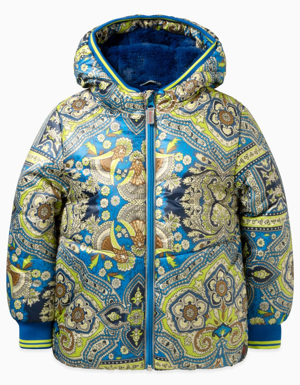 AW19 Oilily Girls Claes Coat 56 Orient Blue