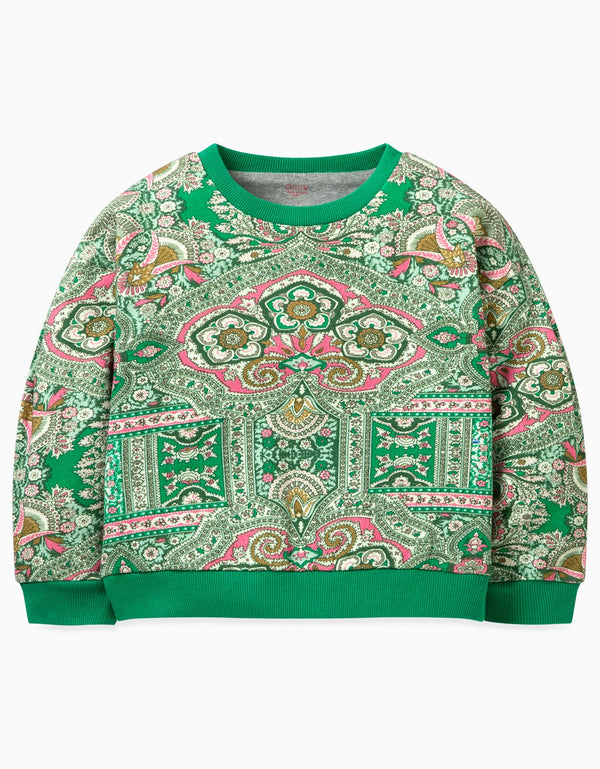 AW19 Oilily Girls Herit Sweater 72 Orient Green