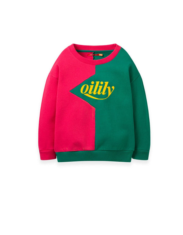 AW19 Oilily Girls Heritage Sweater 38 Pink Green