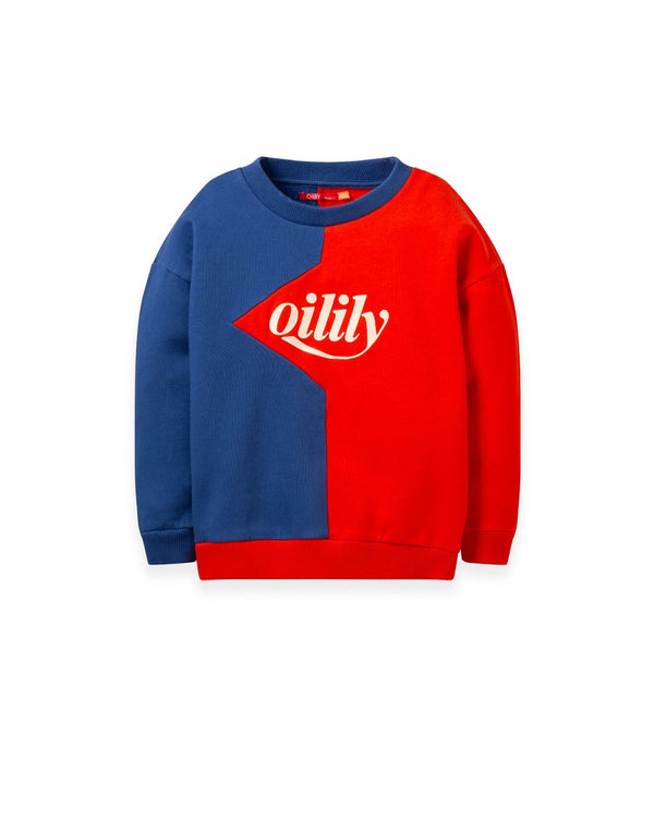 AW19 Oilily Girls Heritage Sweater 38 Red Blue