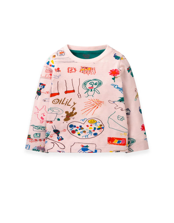 PRE-ORDER AW19 Oilily Girls Tsjonge T-Shirt Long Sleeves 30 Jolie