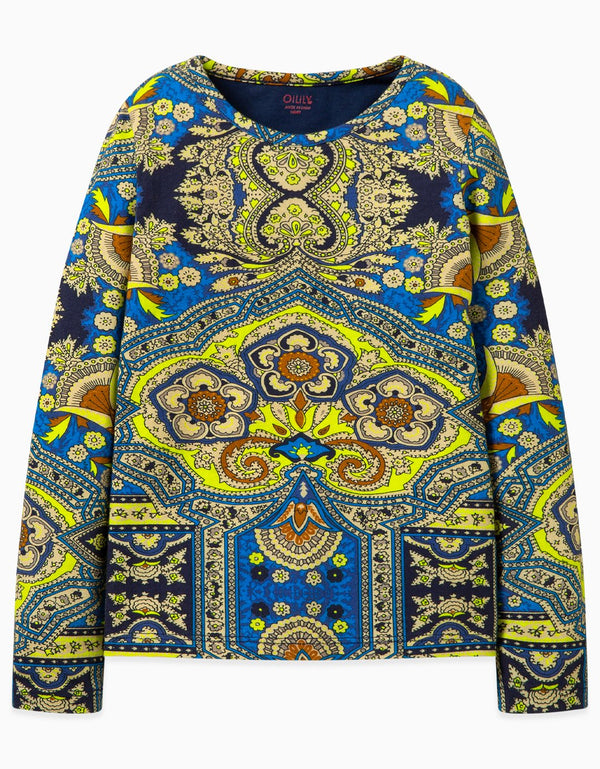 AW19 Oilily Girls Tip T-Shirt Long Sleeve 56 Orient