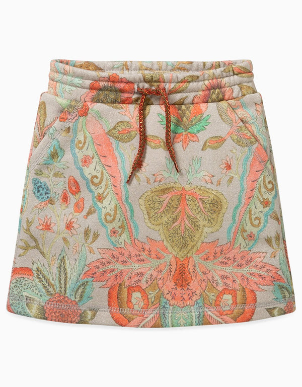 AW19 Oilily Girls Hazzel Sweat Skirt 67 Melee Silver Glitter