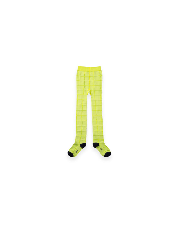AW19 Oilily Girls Maya Malliot 78 Check Pattern Fluo Lime