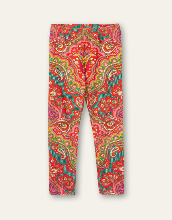 AW20 Oilily Girls Tiska Punjab Paisley Red Leggings 20