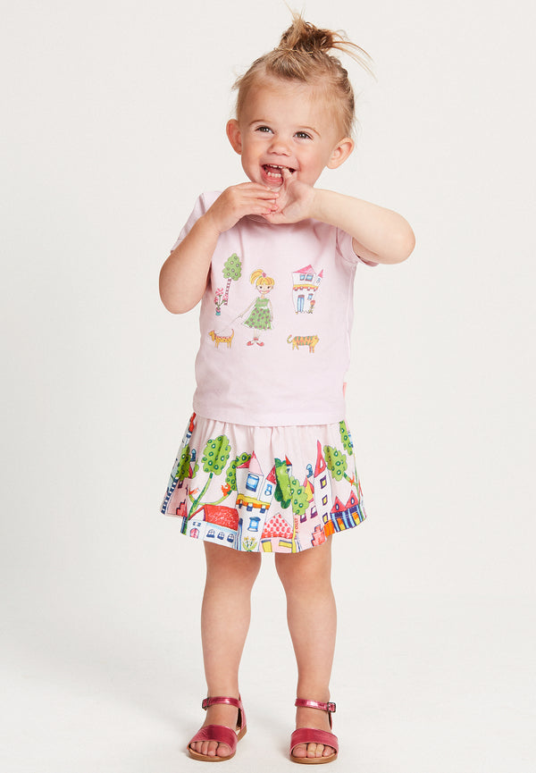 SS18 Oilily Ti T-Shirt Pink With Baby Jane
