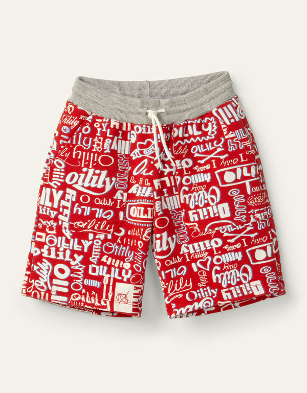 SS20 Oilily Boys Henar Red Logo Sweat Shorts