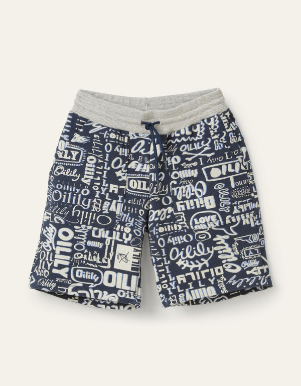 SS20 Oilily Boys Henar Navy Blue Logo Shorts
