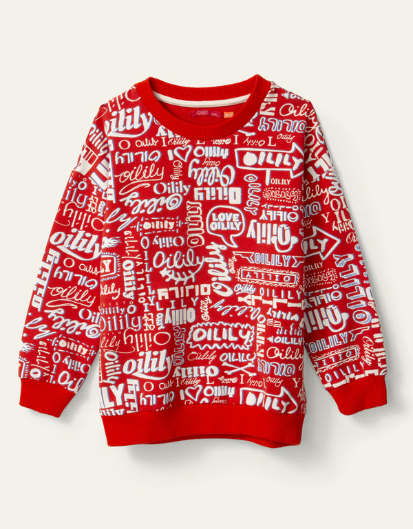 SS20 Oilily Heritage Red Logo Sweater 20