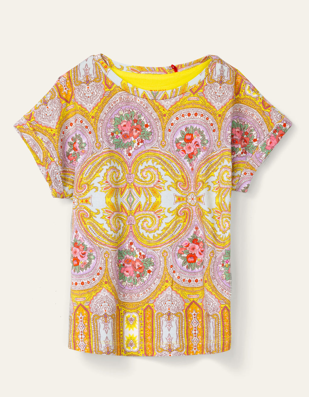 SS20 Oilily Girls Tatoma Rose Yellow T-Shirt 42