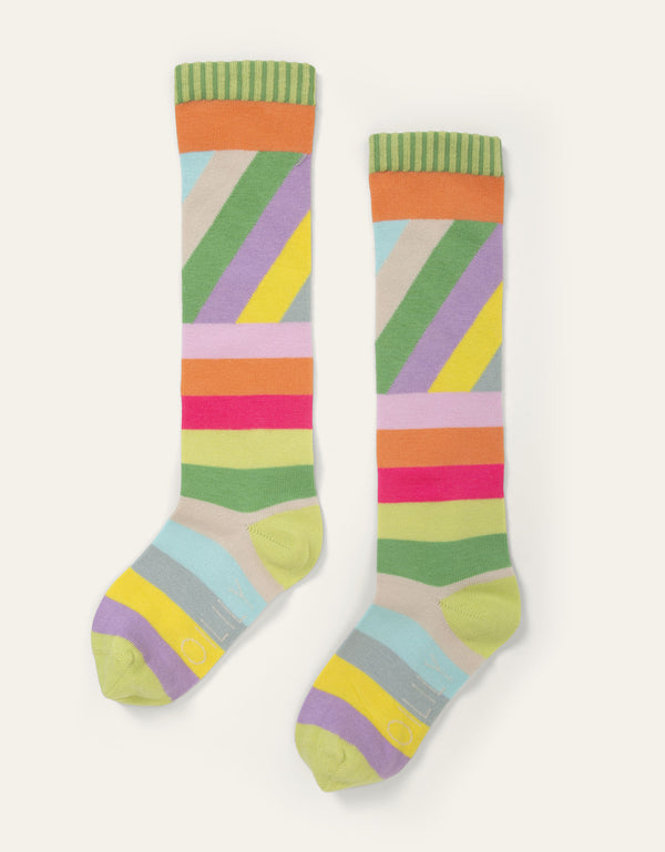 SS20 Oilily Madrid Knee High Multistripe Socks 18