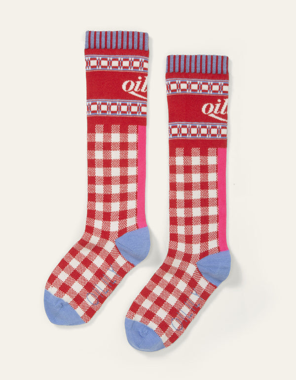 SS20 Oilily Marken Knee High Jacquard Red Socks 20