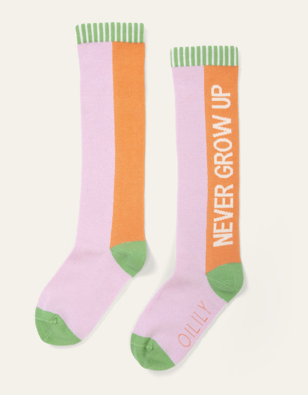 SS20 Oilily Mokum Knee High 'Never Grow Up' Socks 32