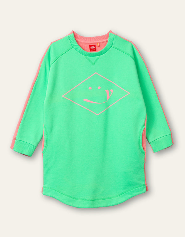 PRE-ORDER SS21 Oilily Girls Hope Green Sweat Dress 79