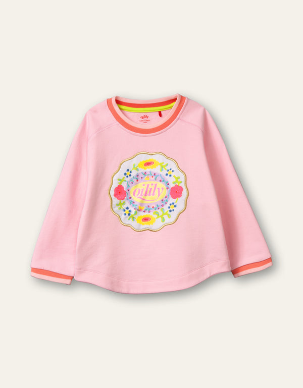 PRE-ORDER SS21 Oilily Girls Home Pink Flower Sweater 36