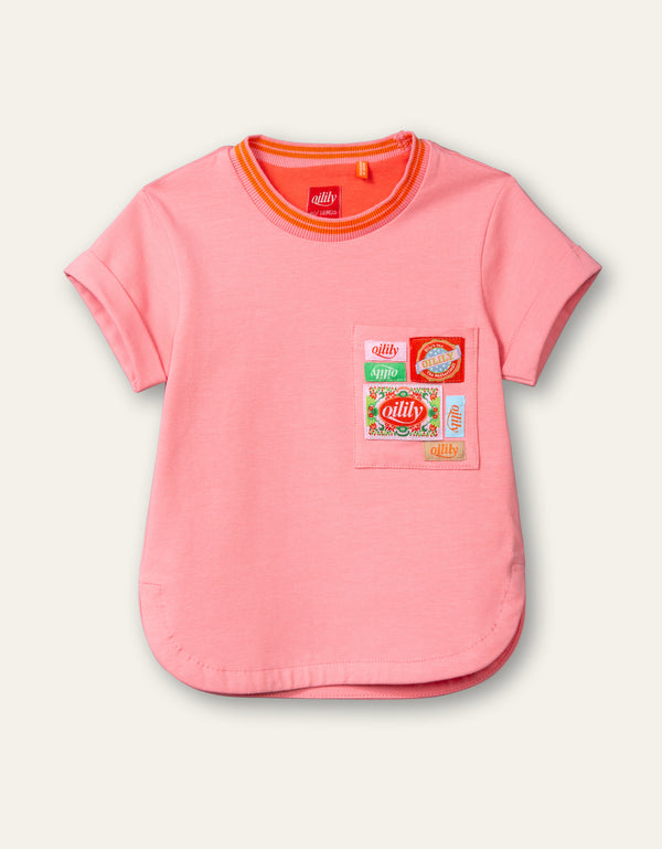 PRE-ORDER SS21 Oilily Girls Terrific Pink Logo T-Shirt
