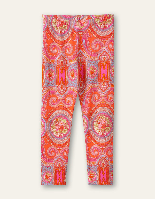 SS21 Oilily Girls Tiska Coral Paisley Rose T-Leggings 15