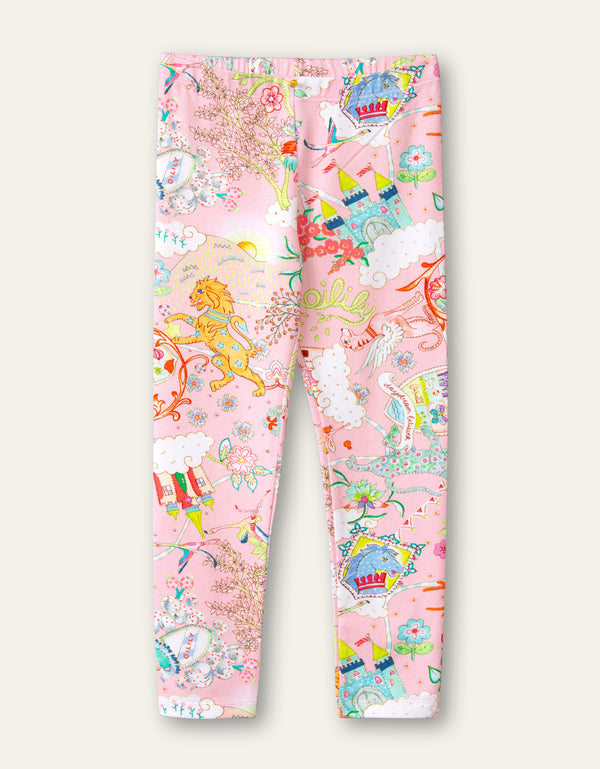 SS21 Oilily Girls Tiska Pink Castle Leggings 36