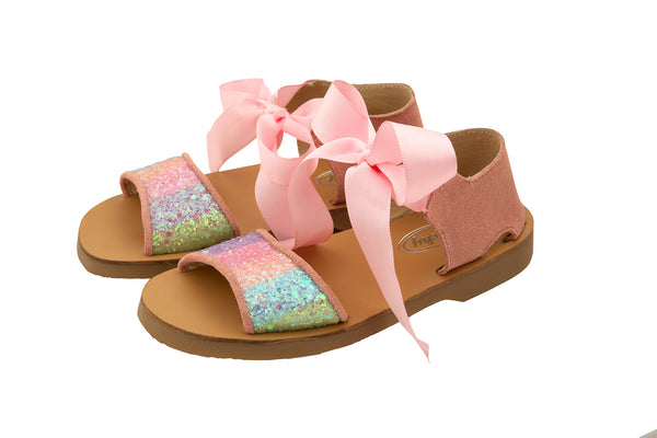 Rochy Girls Rainbow Glitter Sandals