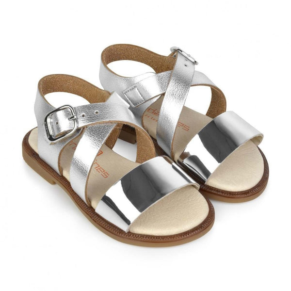 Andanines Girls Silver Sandals