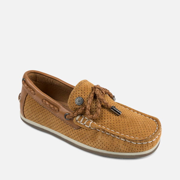 SS18 Mayoral Brown Perforated moccasins 43903