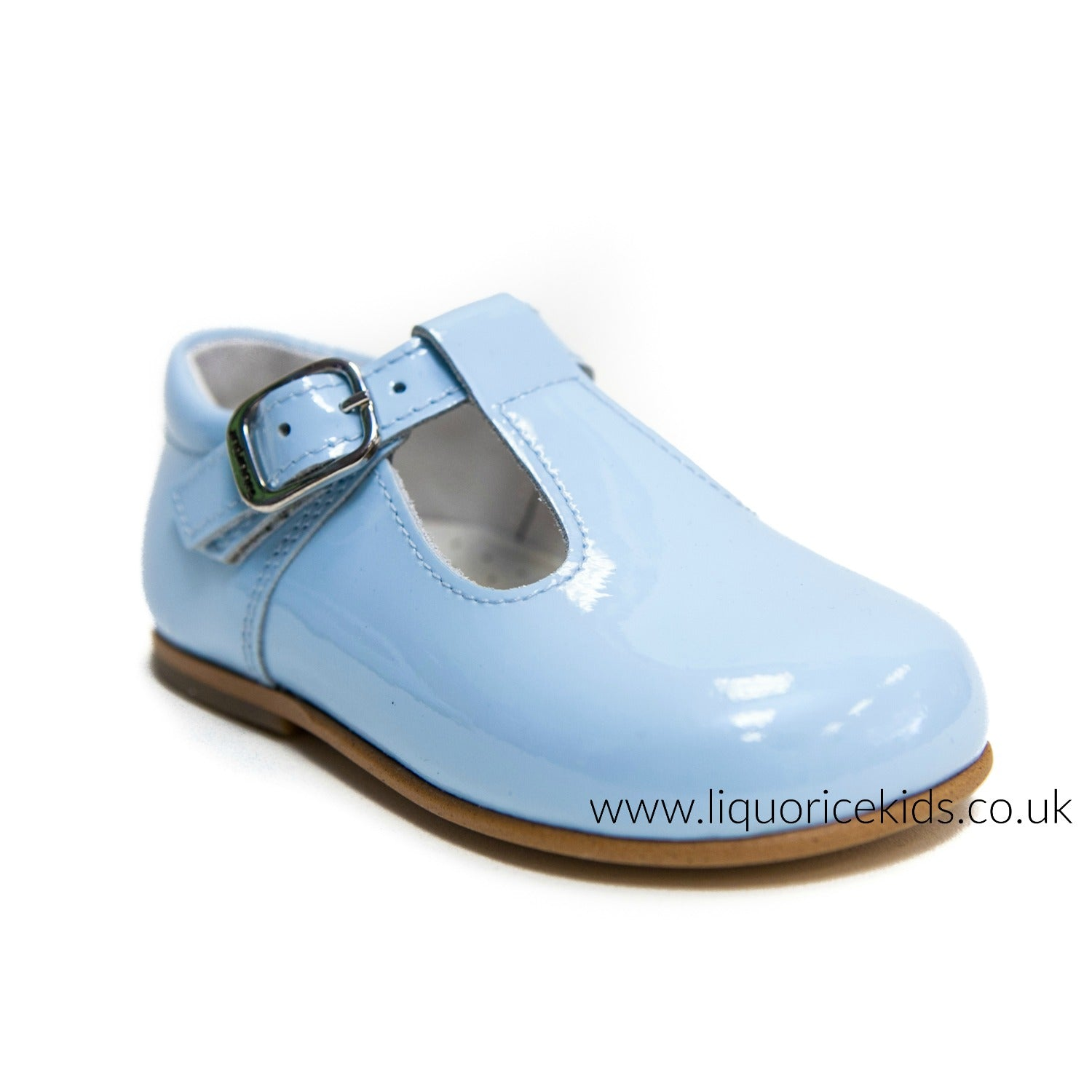 Andanines Boys Baby Blue Patent Leather