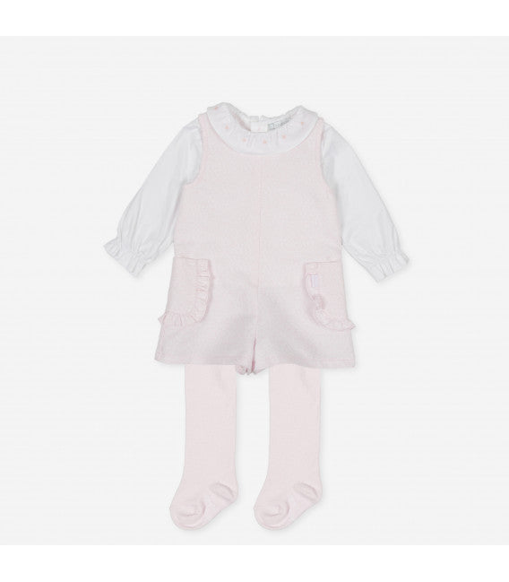 AW20 Tutto Piccolo Girls Pink Three-Piece Romper Set 9413