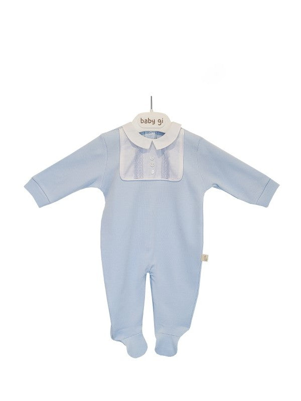 SS20 Baby Gi Baby Blue Lace Babygrow