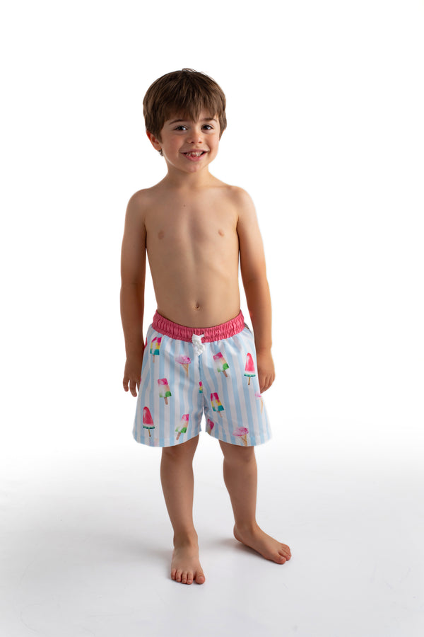PRE-ORDER SS21 Meia Pata Boys Ice Cream Swimming Trunks
