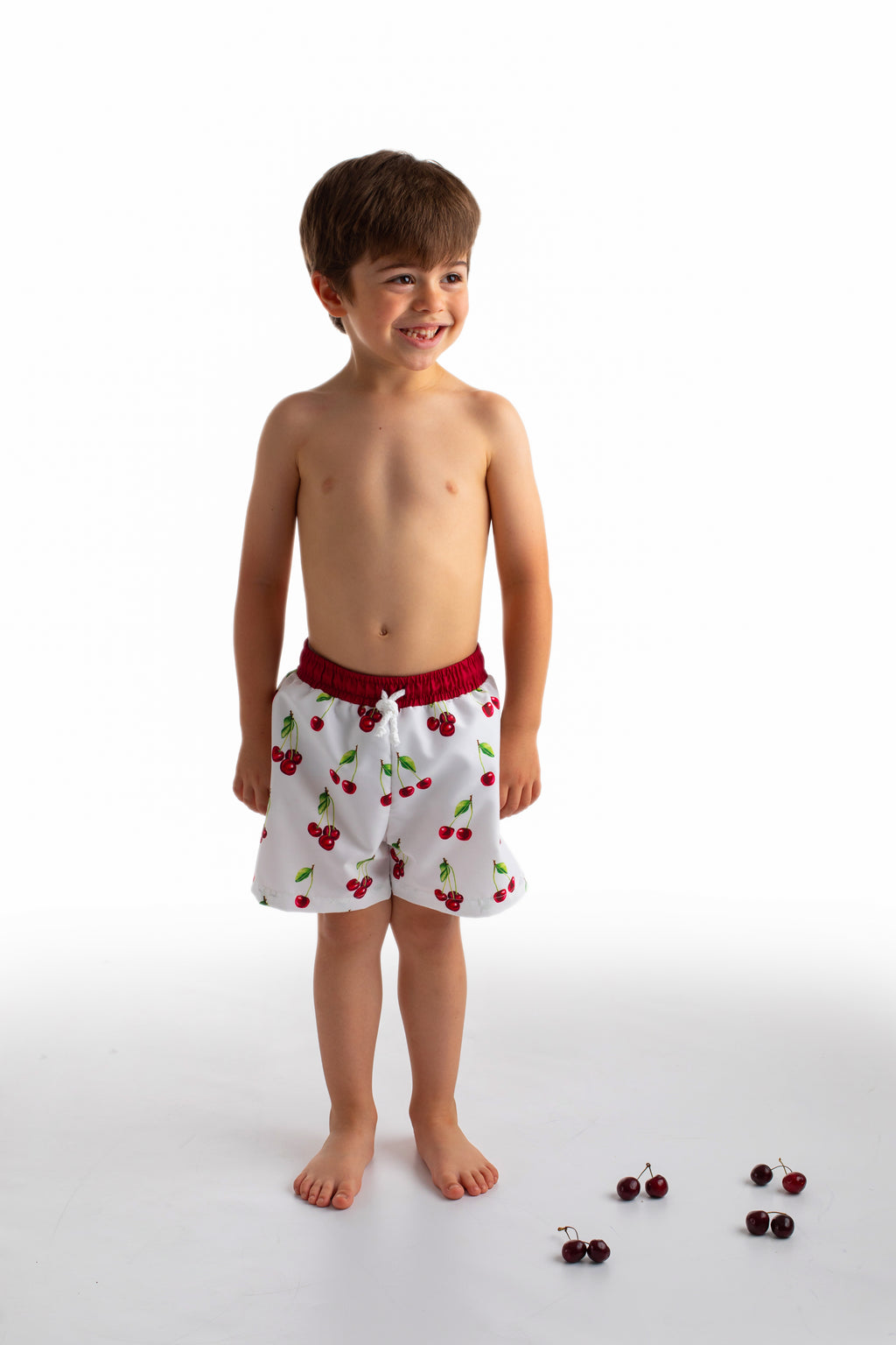 SS21 Meia Pata Boys Cherries Swimming Trunks