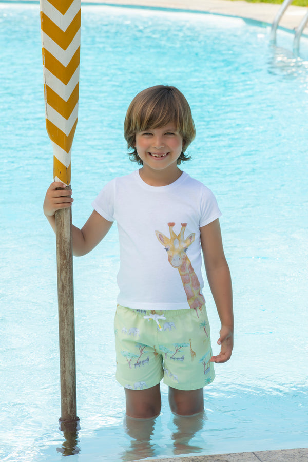 SS21 Patachou Boys Yellow Safari Swim Shorts