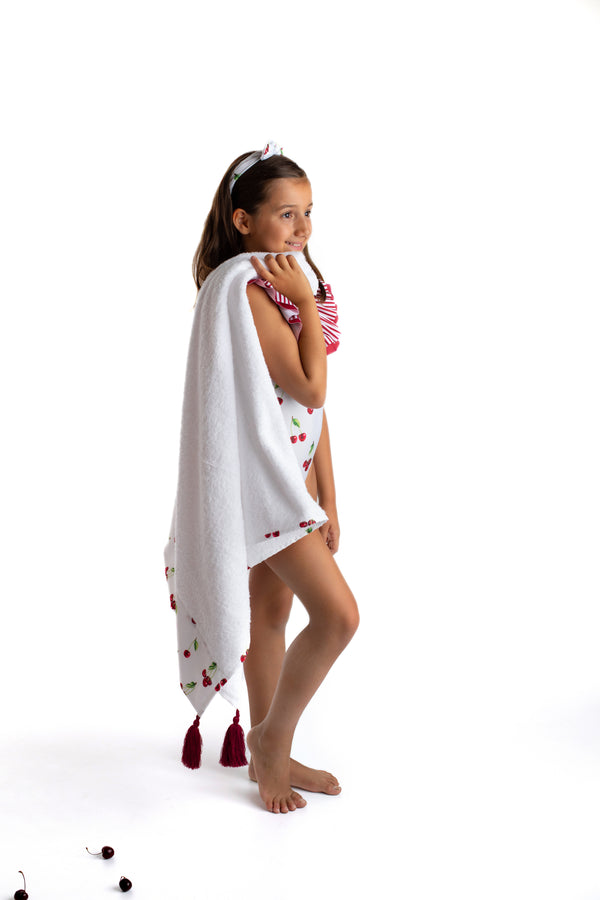 PRE-ORDER SS21 Meia Pata Girls Cherries Beach Towel