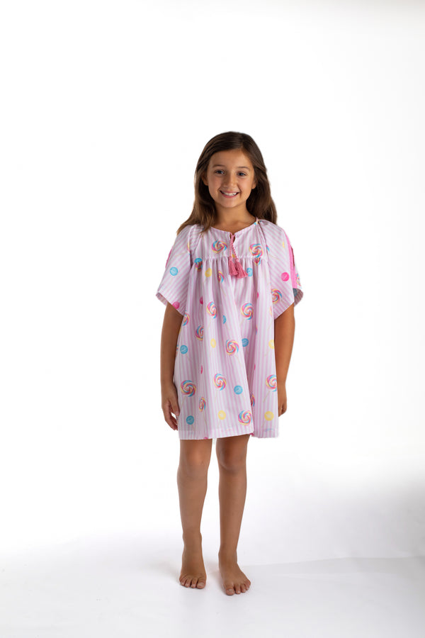 PRE-ORDER SS21 Meia Pata Girls Lollipop Beach Dress