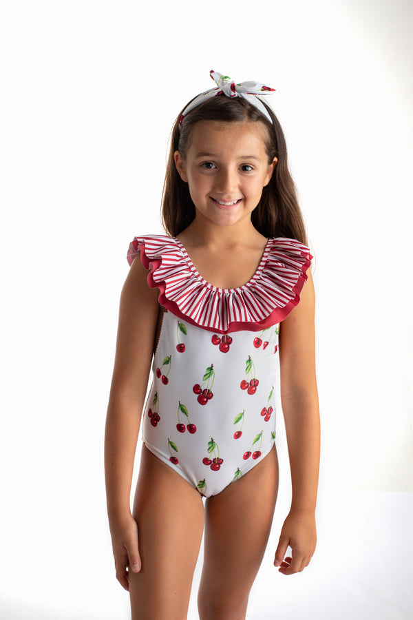 PRE-ORDER SS21 Meia Pata Girls Ibiza Cherries Swimming Costume