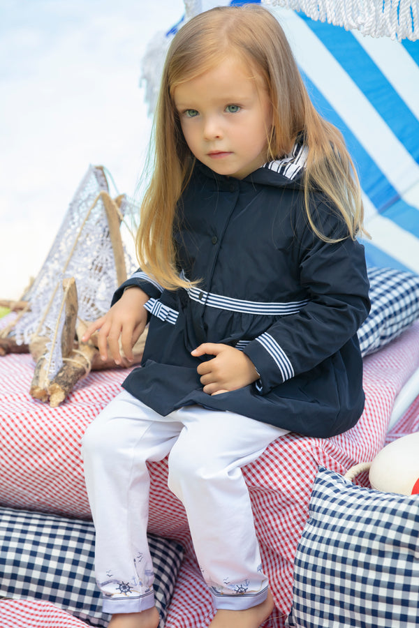 SS21 Patachou Girls Navy Blue Raincoat
