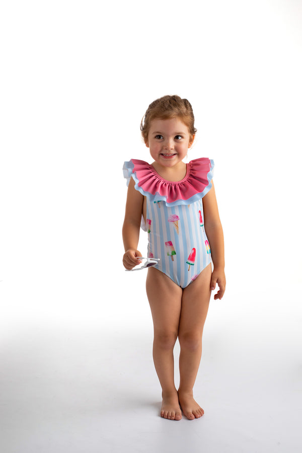 SS21 Meia Pata Girls Ibiza Ice Cream Swimming Costume