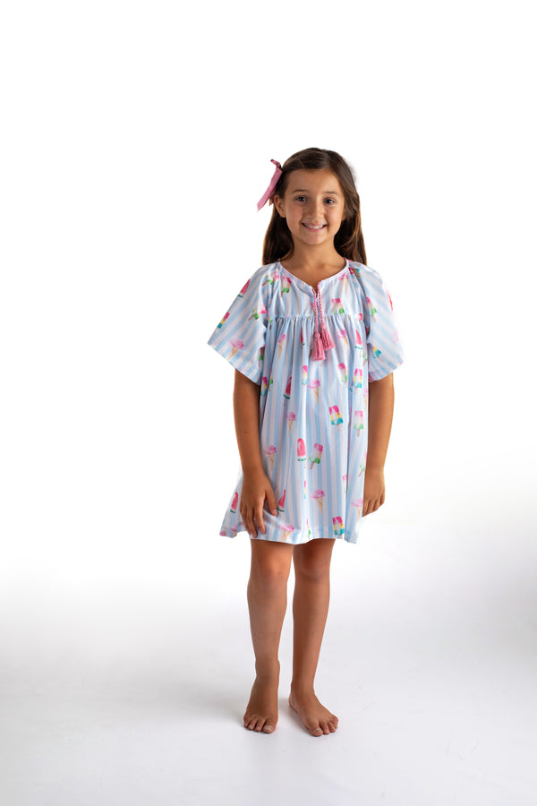 PRE-ORDER SS21 Meia Pata Girls Ice Cream Beach Dress
