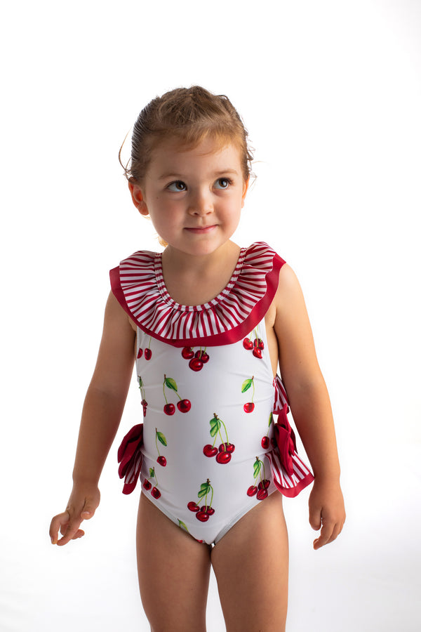 PRE-ORDER SS21 Meia Pata Girls Formentera Cherries Swimming Costume