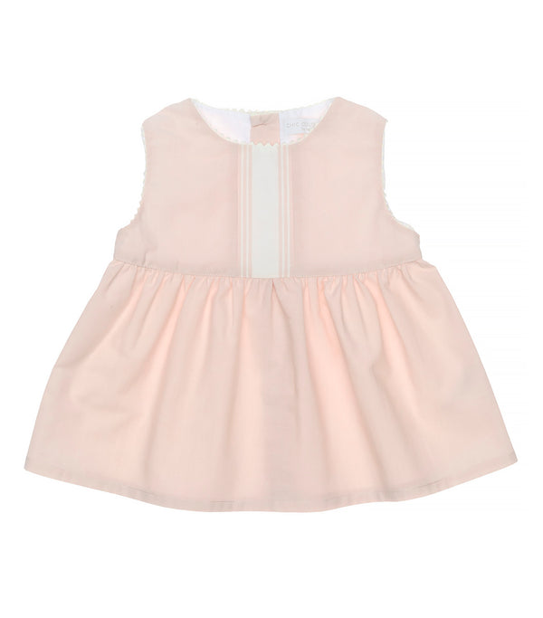 SS20 Laranjinha Chic Girls Pink & Ivory Short Set CV058