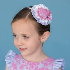 AW16 Dolce Petit Girls Blue and Pink Floral Headband 2223-D
