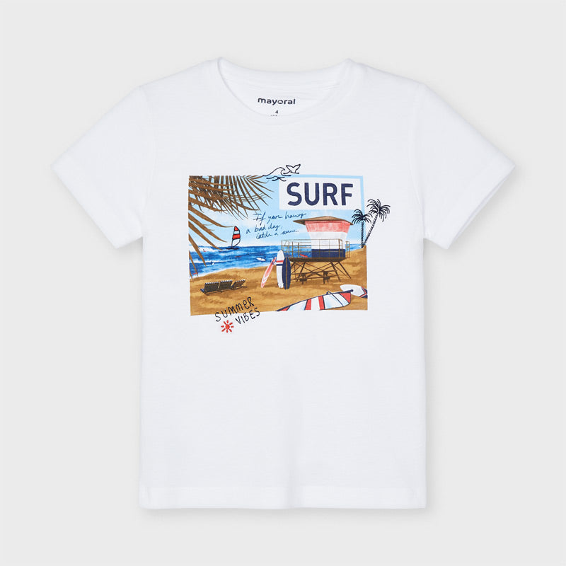 SS21 Mayoral Boys White Surf T-Shirt 3031