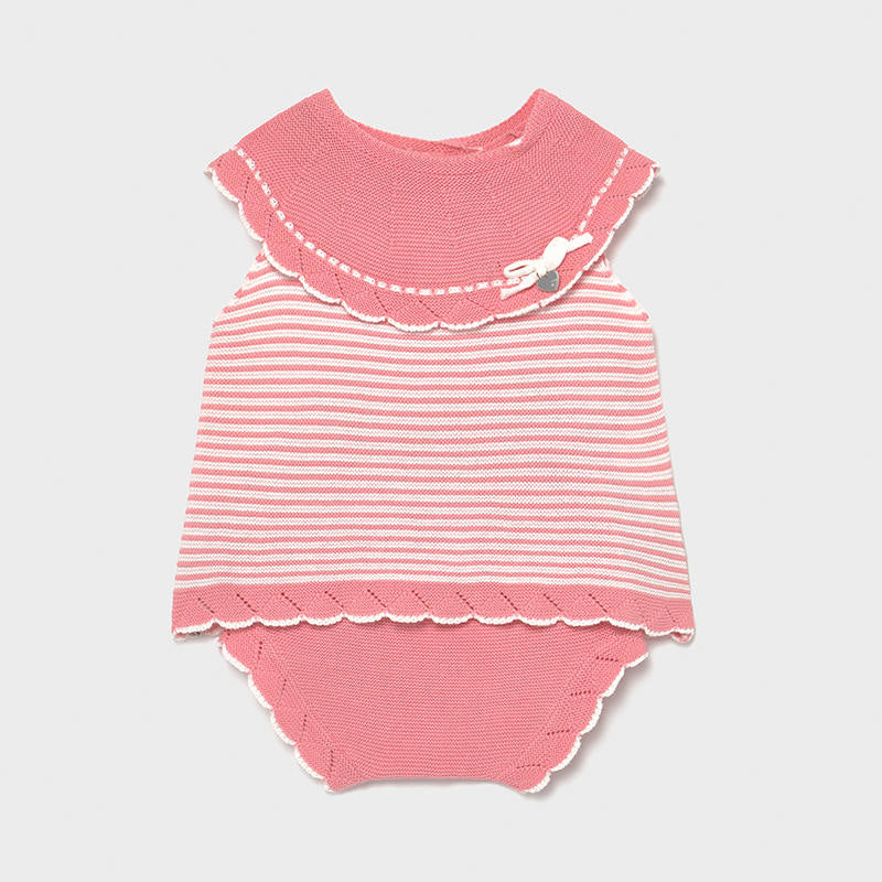 SS21 Mayoral Baby Girls Pink Knitted Two-Piece Set 1298