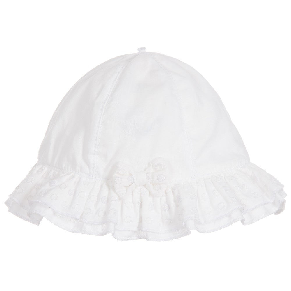 SS16 Emile et Rose Baby Girls Karlotta White Sun Hat 4733