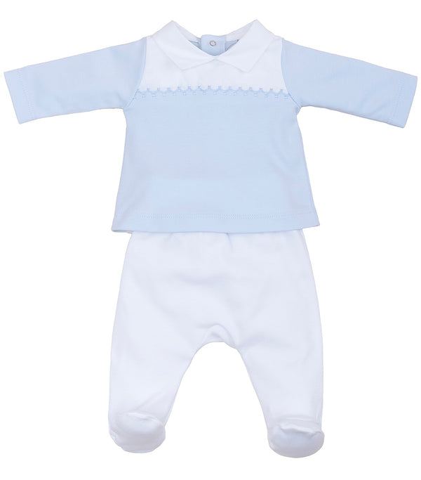 SS19 Laranjinha Baby Boys Blue & White Two-Piece Set V9032